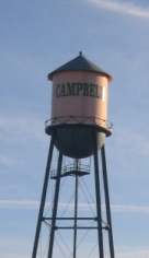 Water Tower in Downtown Campbell Ca