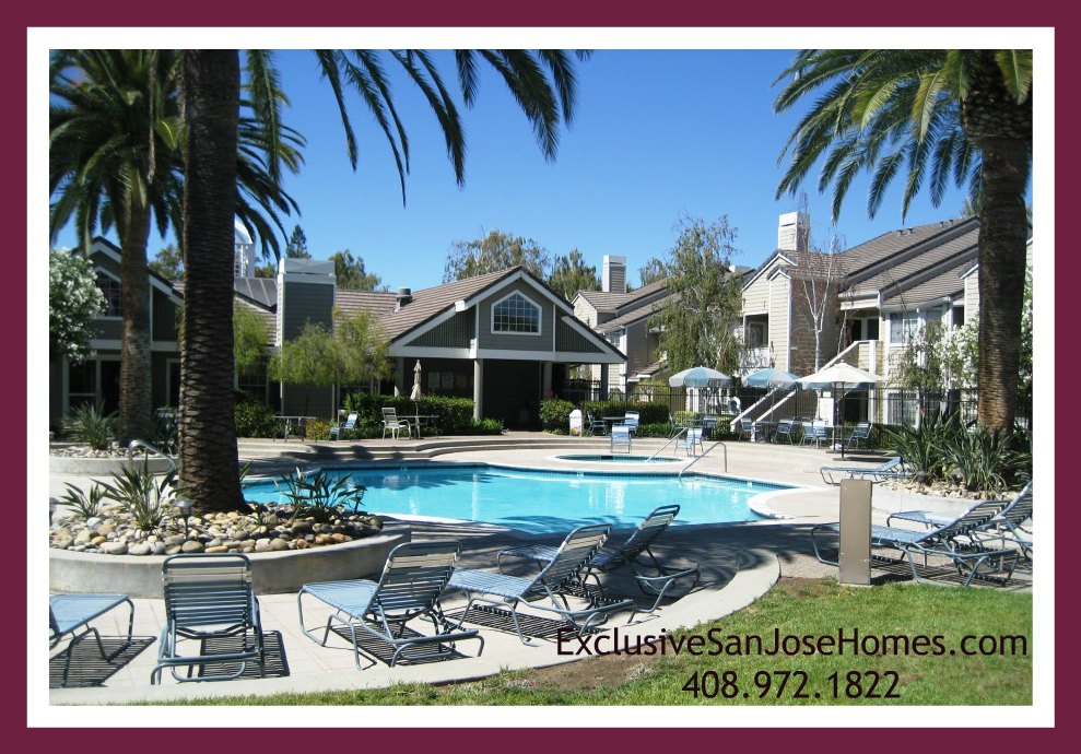 Pool and Clubhouse at Park Almaden in Blossom Valley San Jose